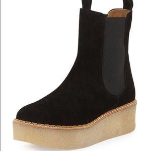 Flamingos platform Chelsea boots
